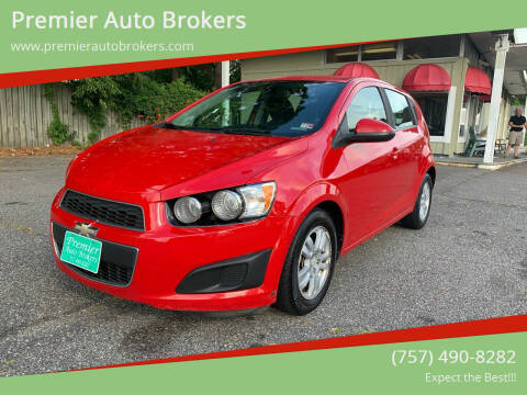 2012 Chevrolet Sonic for sale at Premier Auto Brokers in Virginia Beach VA