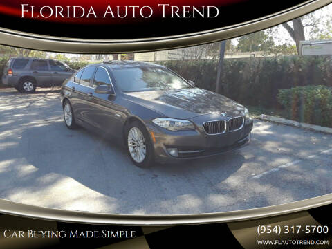 2011 BMW 5 Series for sale at Florida Auto Trend in Plantation FL