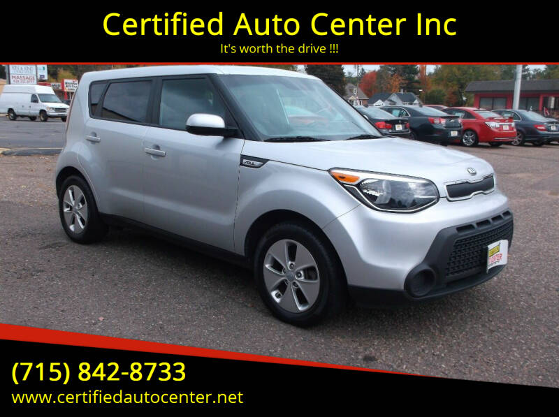 2016 Kia Soul for sale at Certified Auto Center Inc in Wausau WI