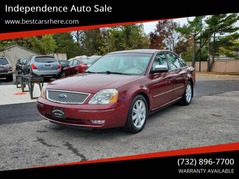 2007 Ford Five Hundred for sale at Independence Auto Sale in Bordentown NJ