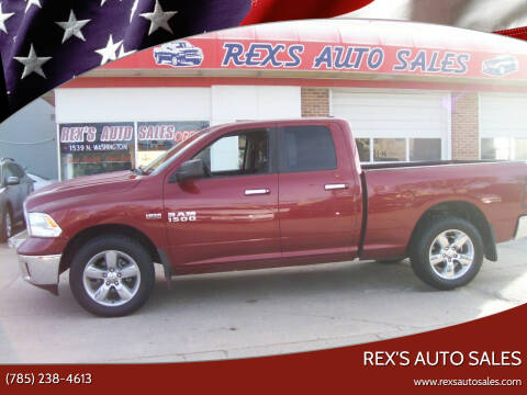 2013 RAM Ram Pickup 1500 for sale at Rex's Auto Sales in Junction City KS