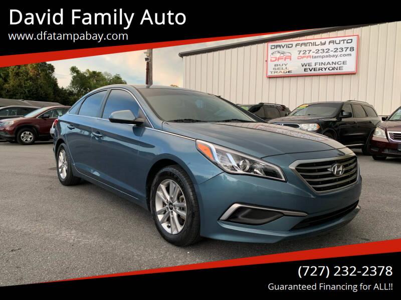2017 Hyundai Sonata for sale at David Family Auto in New Port Richey FL