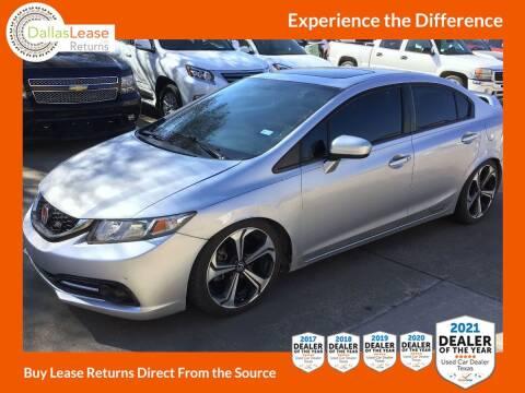 2014 Honda Civic for sale at Dallas Auto Finance in Dallas TX