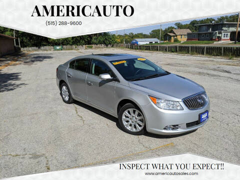 2013 Buick LaCrosse for sale at AmericAuto in Des Moines IA