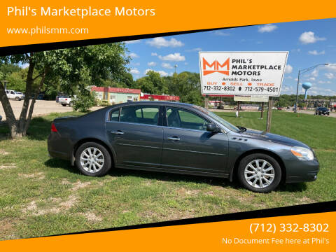 2011 Buick Lucerne for sale at Phil's Marketplace Motors in Arnolds Park IA
