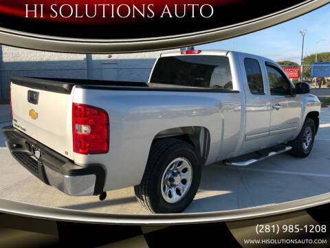 2012 Chevrolet Silverado 1500 for sale at HI SOLUTIONS AUTO in Houston TX