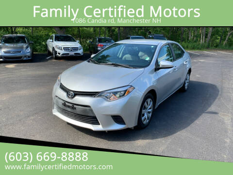 2016 Toyota Corolla for sale at Family Certified Motors in Manchester NH