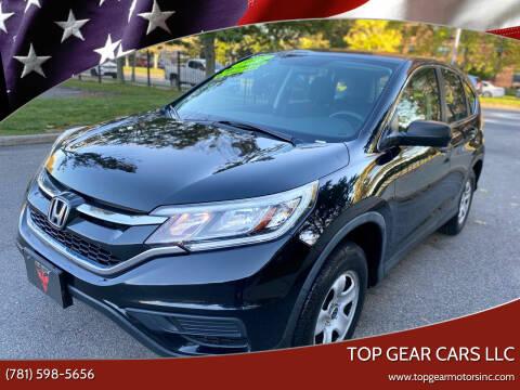 2015 Honda CR-V for sale at Top Gear Cars LLC in Lynn MA