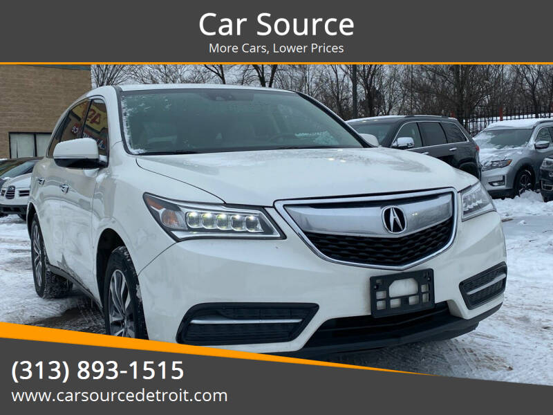 2014 Acura MDX for sale at Car Source in Detroit MI
