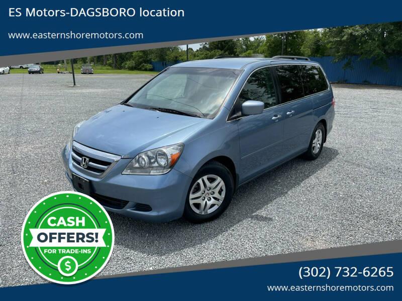 2006 Honda Odyssey for sale at ES Motors-DAGSBORO location in Dagsboro DE