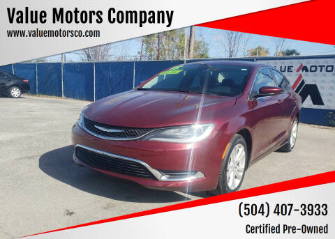 2015 Chrysler 200 for sale at Value Motors Company in Marrero LA