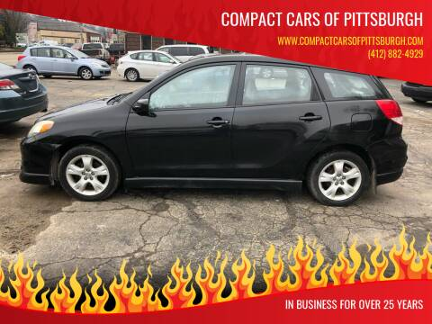 2004 Toyota Matrix for sale at Compact Cars of Pittsburgh in Pittsburgh PA