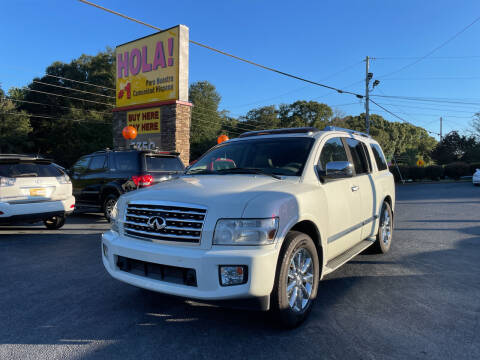 2008 Infiniti QX56 for sale at No Full Coverage Auto Sales in Austell GA