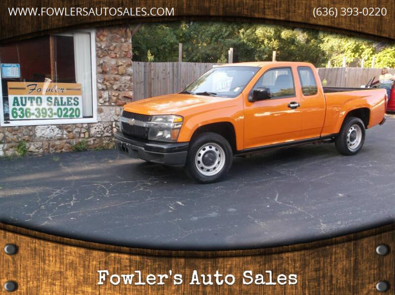 2011 Chevrolet Colorado for sale at Fowler's Auto Sales in Pacific MO