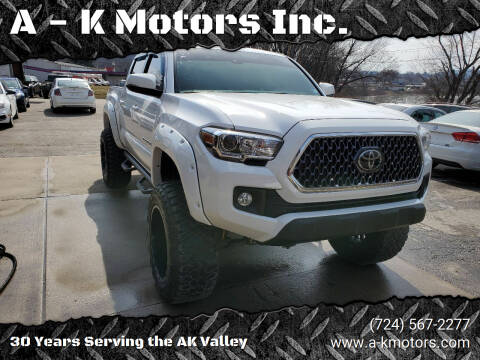 2018 Toyota Tacoma for sale at A - K Motors Inc. in Vandergrift PA