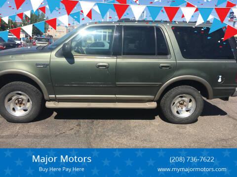 2000 Ford Expedition for sale at Major Motors in Twin Falls ID