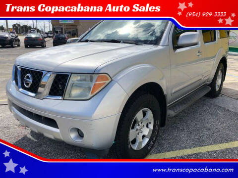 2006 Nissan Pathfinder for sale at Trans Copacabana Auto Sales in Hollywood FL