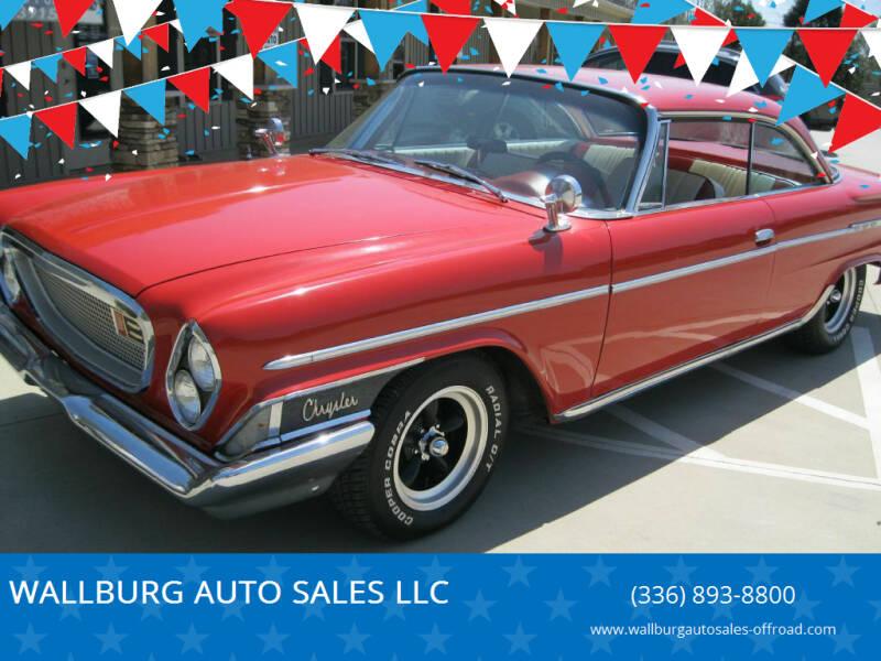 1962 Chrysler Newport for sale at WALLBURG AUTO SALES LLC in Winston Salem NC