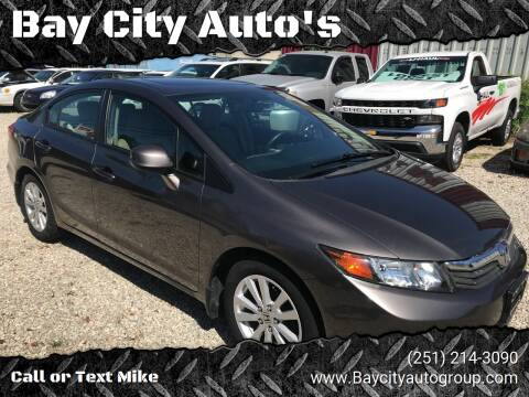 2012 Honda Civic for sale at Bay City Auto's in Mobile AL