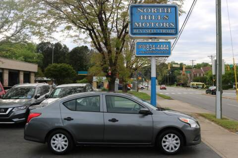 2016 Nissan Versa for sale at North Hills Motors in Raleigh NC