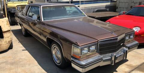 1983 Cadillac DeVille for sale at HIGH-LINE MOTOR SPORTS in Brea CA