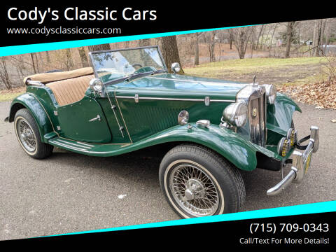 1953 MG TD for sale at Cody's Classic Cars in Stanley WI