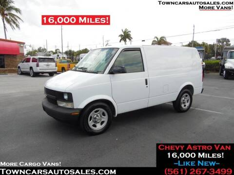 2003 Chevrolet Astro Cargo for sale at Town Cars Auto Sales in West Palm Beach FL