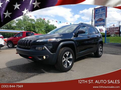 2016 Jeep Cherokee for sale at 12th St. Auto Sales in Canton OH