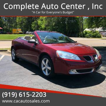 2008 Pontiac G6 for sale at Complete Auto Center , Inc in Raleigh NC