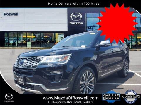 2018 Ford Explorer for sale at Mazda Of Roswell in Roswell GA