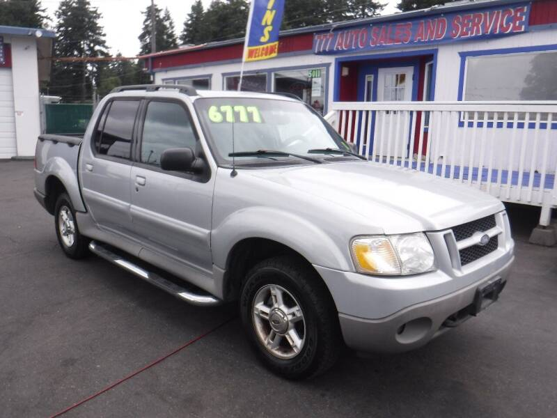 2002 Ford Explorer Sport Trac for sale at 777 Auto Sales and Service in Tacoma WA
