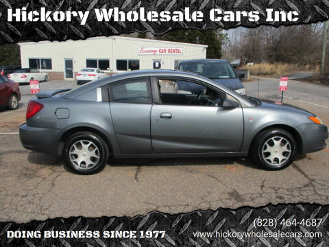 2005 Saturn Ion for sale at Hickory Wholesale Cars Inc in Newton NC