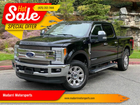2017 Ford F-350 Super Duty for sale at Mudarri Motorsports in Kirkland WA