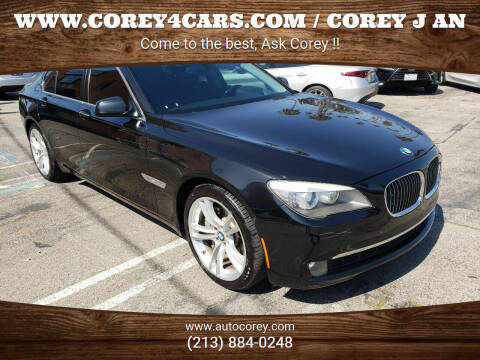 2012 BMW 7 Series for sale at WWW.COREY4CARS.COM / COREY J AN in Los Angeles CA