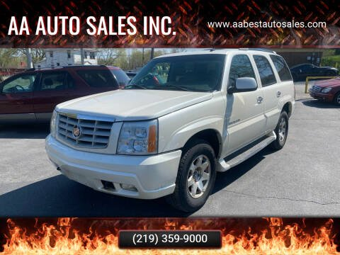 2002 Cadillac Escalade for sale at AA Auto Sales Inc. in Gary IN