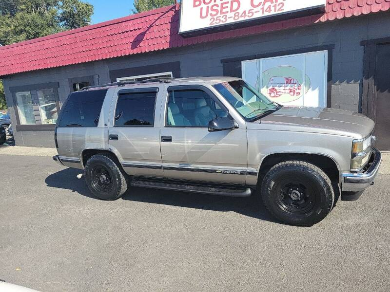 1998 Chevrolet Tahoe for sale at Bonney Lake Used Cars in Puyallup WA