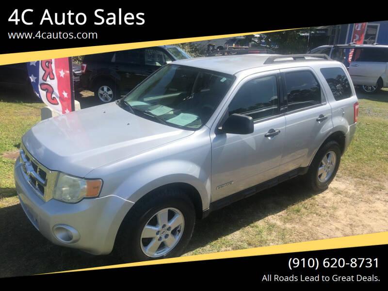 2008 Ford Escape for sale at 4C Auto Sales in Wilmington NC