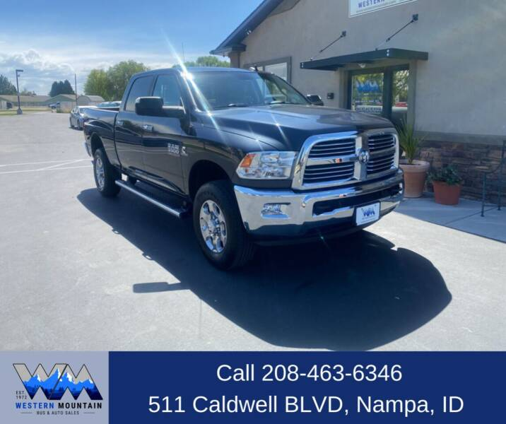 2018 RAM Ram Pickup 3500 for sale at Western Mountain Bus & Auto Sales in Nampa ID