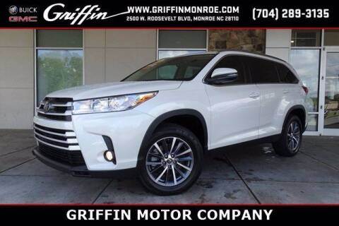 2019 Toyota Highlander for sale at Griffin Buick GMC in Monroe NC