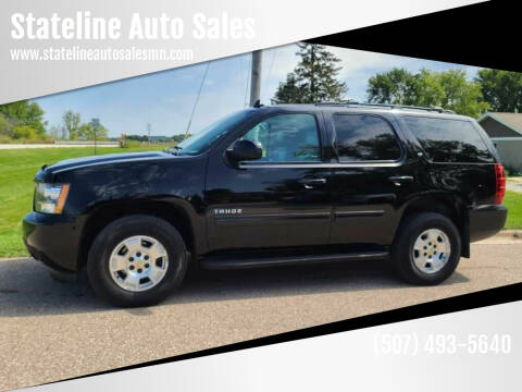 2013 Chevrolet Tahoe for sale at Stateline Auto Sales in Mabel MN