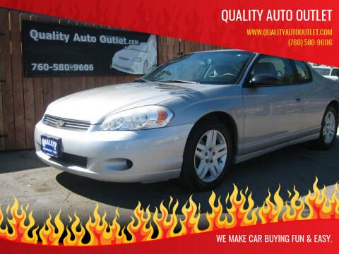 2007 Chevrolet Monte Carlo for sale at Quality Auto Outlet in Vista CA