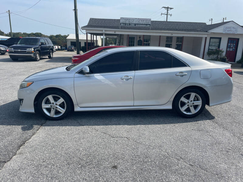 2013 Toyota Camry for sale at TAVERN MOTORS in Laurens SC