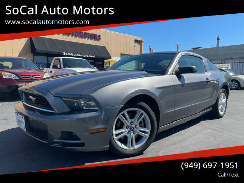 2013 Ford Mustang for sale at SoCal Auto Motors in Costa Mesa CA