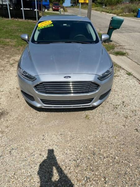 2015 Ford Fusion Hybrid for sale at Hillside Motor Sales in Coldwater MI
