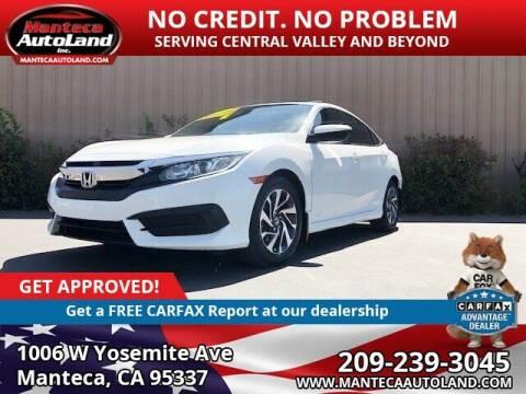 2017 Honda Civic for sale at Manteca Auto Land in Manteca CA