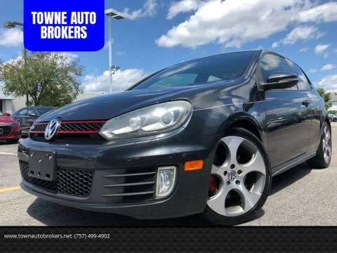 2010 Volkswagen GTI for sale at TOWNE AUTO BROKERS in Virginia Beach VA