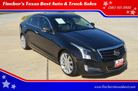 2014 Cadillac ATS for sale at Fincher's Texas Best Auto & Truck Sales in Tomball TX
