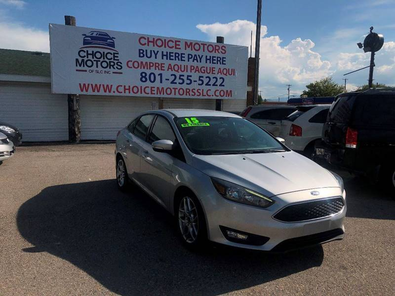 2015 Ford Focus for sale at Choice Motors of Salt Lake City in West Valley  City UT
