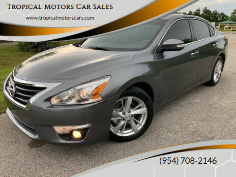 2014 Nissan Altima for sale at Tropical Motors Car Sales in Deerfield Beach FL
