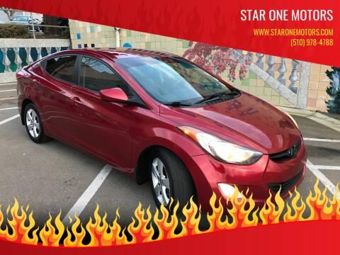 2013 Hyundai Elantra for sale at Star One Motors in Hayward CA